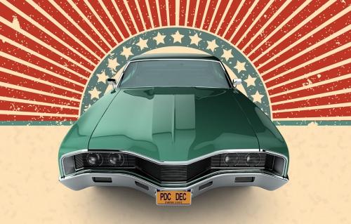 american car mockup
