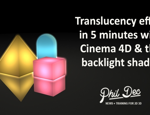 Translucency effect in Cinema 4D with the backlight shader