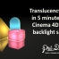 Translucency in Cinema 4D with the backlight shader